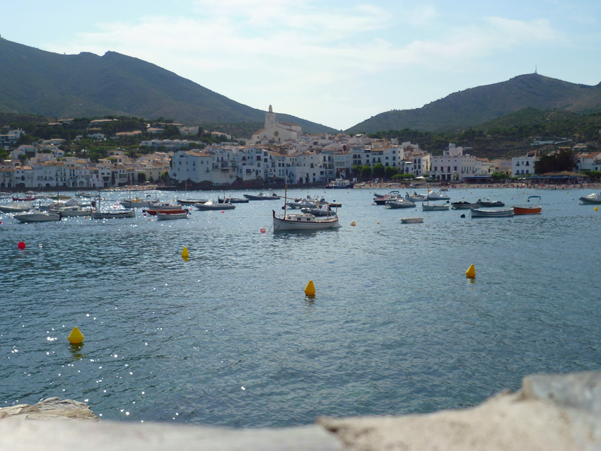 Cadaques bay with town