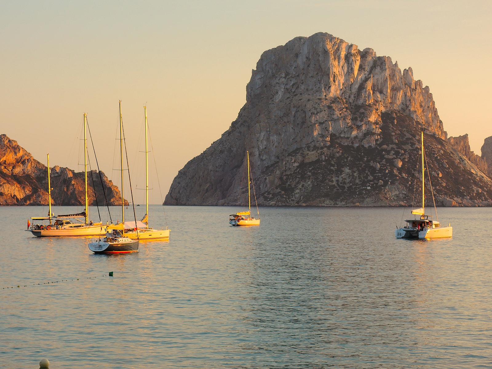 Ibiza Es Vedra from Cala d'Hort Balearic Islands